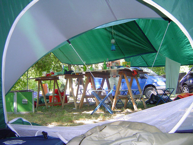 View from within my tent