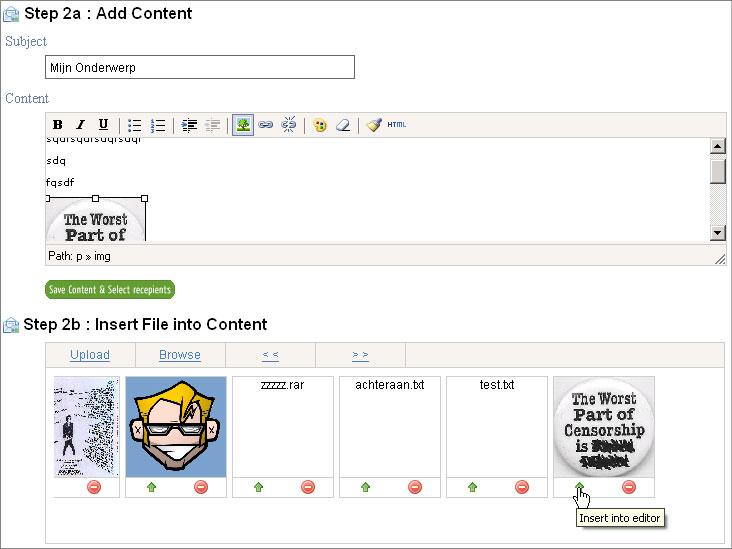 TinyMCE Content Management - WordPress alike