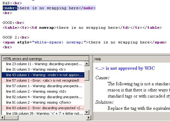 Firefox HTML Validator Extension