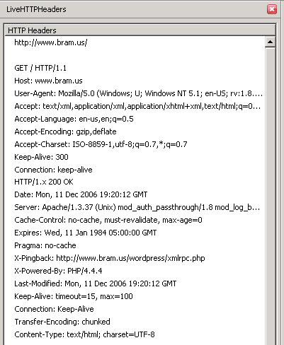 Firefox Live HTTP Headers