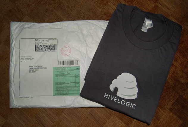 Hivelogic T-Shirt and Packaging