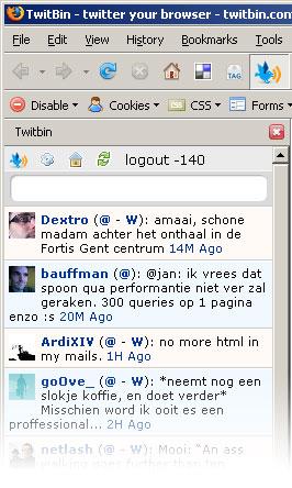 TwitBin Sidebar