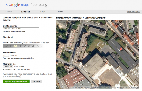 Google Maps Floor Plans
