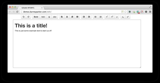 World Simplest HTML5 WYSISYG Inline Editor – Bram us
