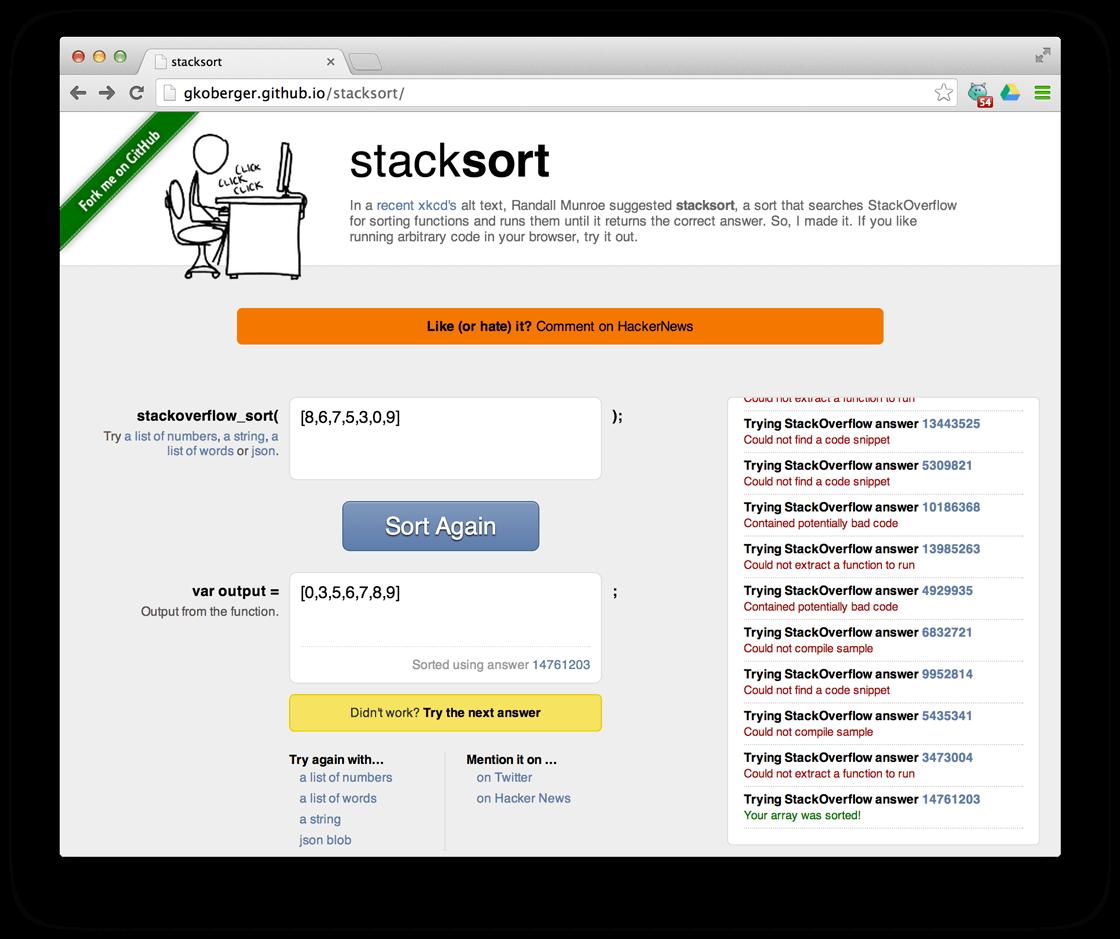 stacksort