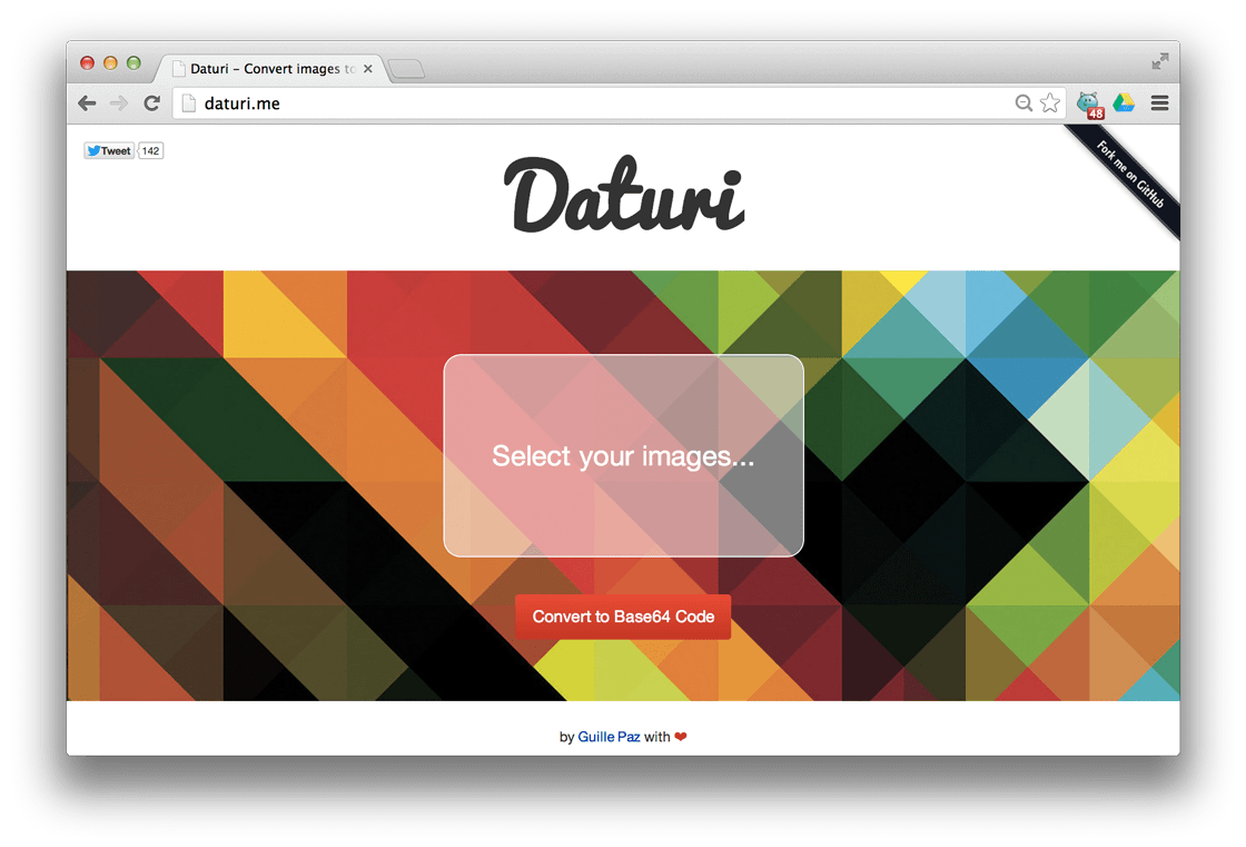 Daturi – Convert images to Base64 – Bram us
