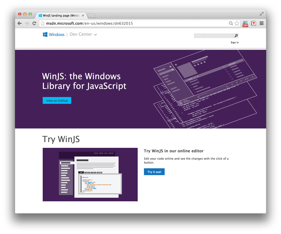 WinJS – The Windows Library for JavaScript – Bram us