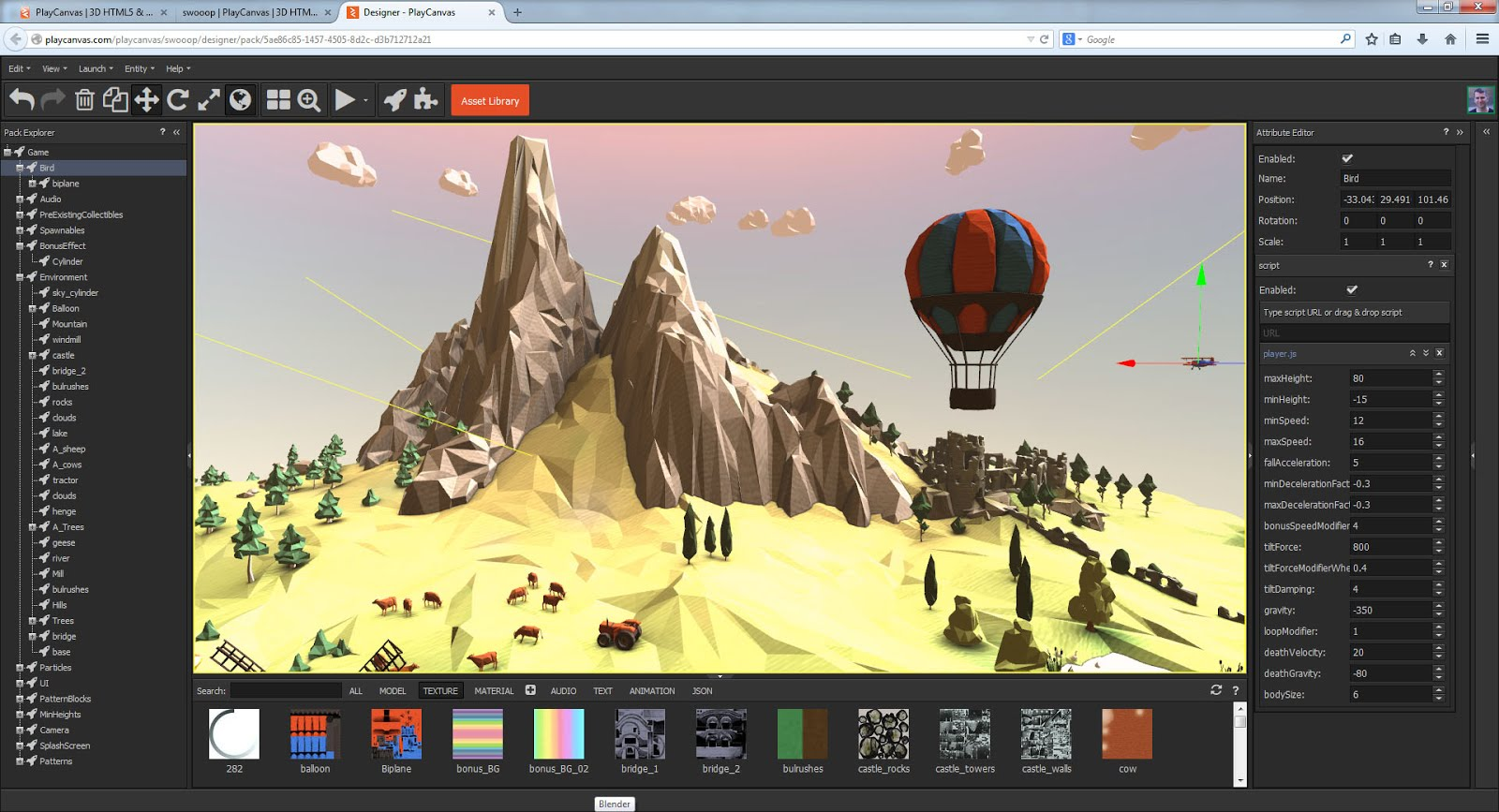 play-canvas-engine