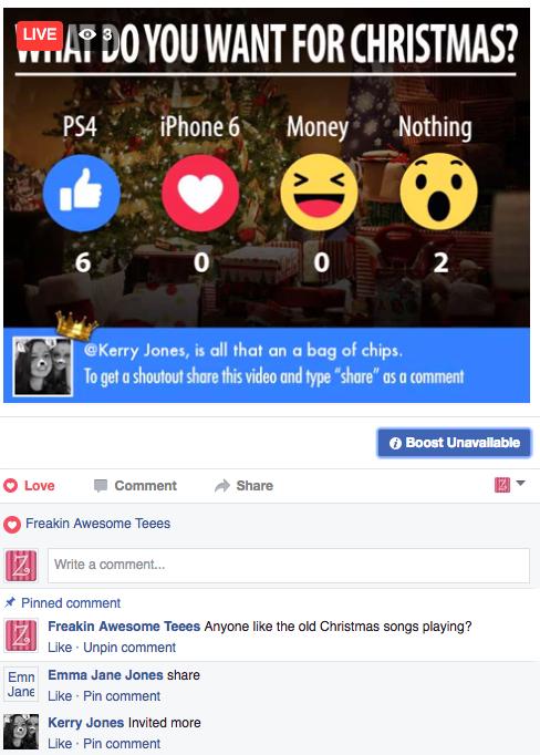 Facebook Live Reactions – Bram us