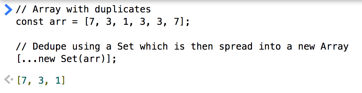 ES6 ES2015: Easily remove duplicates from an Array – Bram us