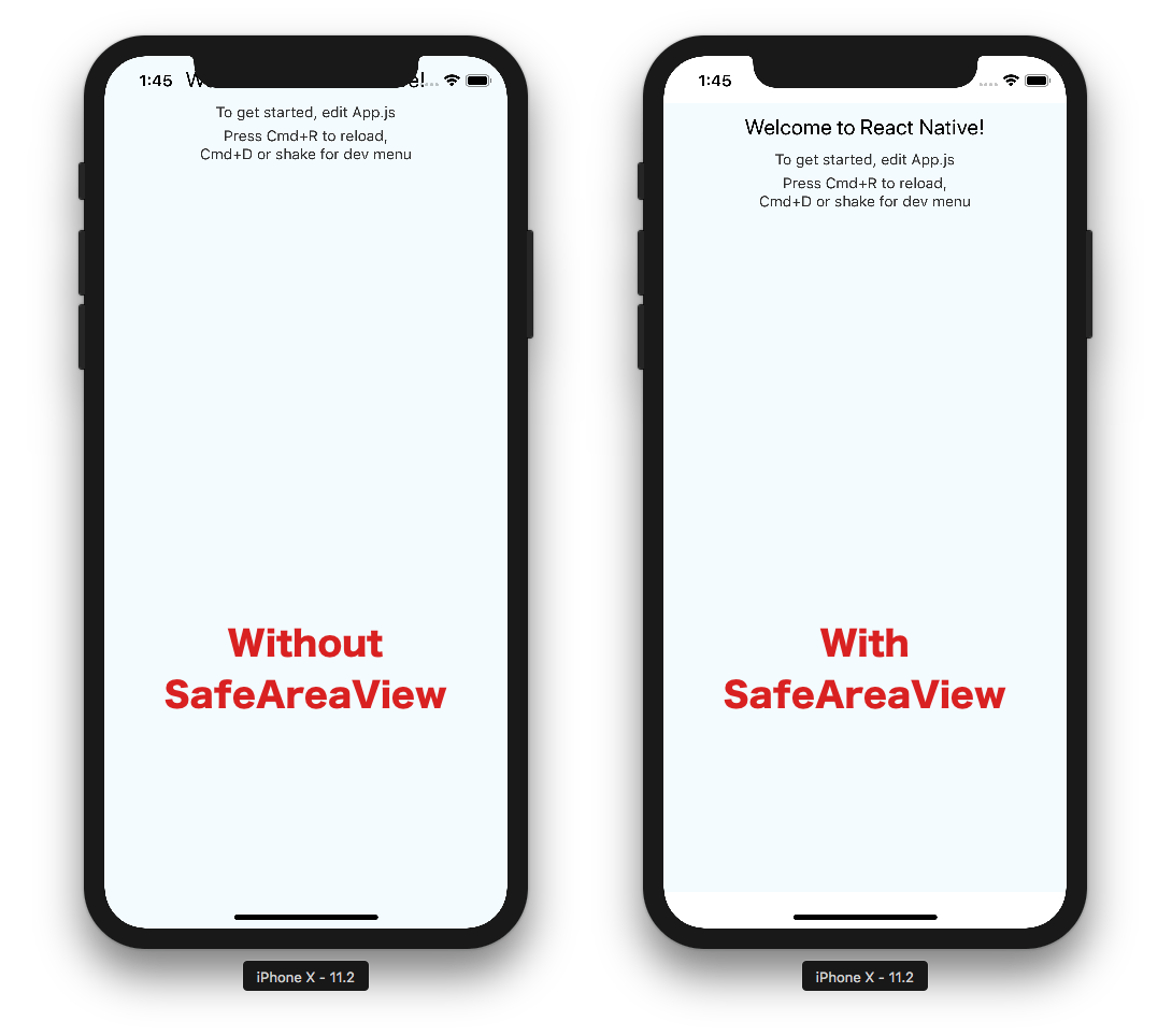 React Native and iPhone X: <SafeAreaView /> – Bram us